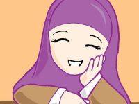 Gambar Kartun Muslimah Bahagia