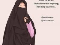 Gambar Kartun Muslimah Bercadar Belajar Keikhlasan