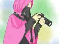 Gambar Kartun Muslimah Bercadar Fotografer
