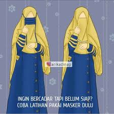 Gambar Kartun Muslimah Bercadar Latihan Bercadar Kartun Muslimah