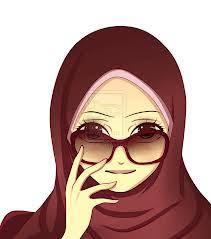 Gambar Kartun Muslimah Lucu Berkacamata