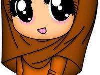 Gambar Kartun Muslimah Lucu Gamis Batik
