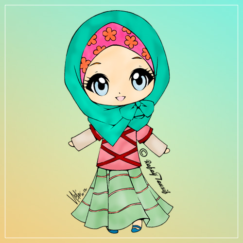 Gambar Kartun Muslimah Lucu Gamis