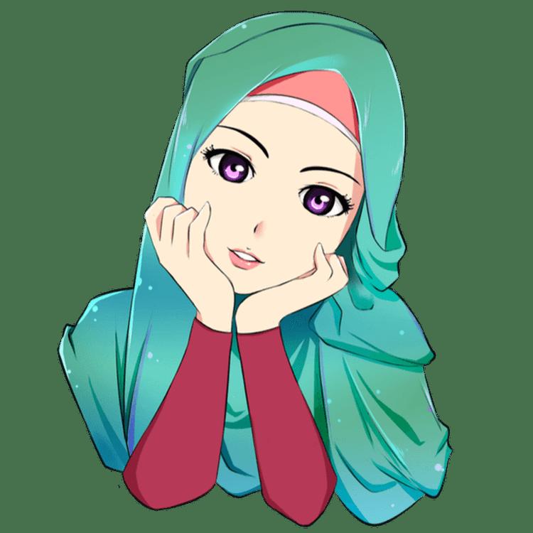 Gambar Kartun Muslimah Lucu Jilbab Hijau