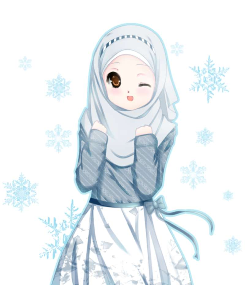 Gambar Kartun Muslimah Lucu Melirik