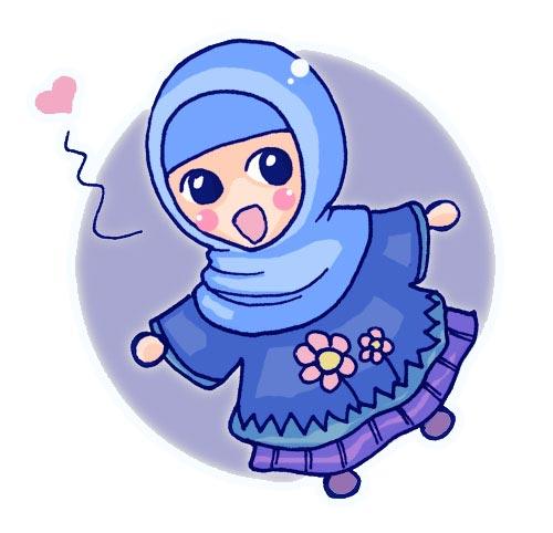 Gambar Kartun Muslimah Lucu So Cute Kartun Muslimah
