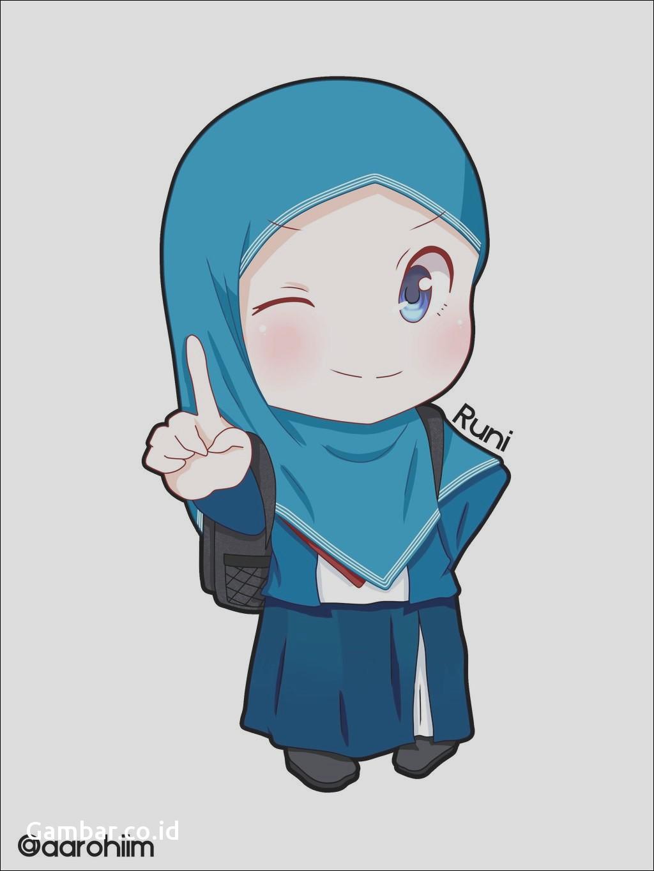 Gambar Kartun Muslimah Yang Lucu