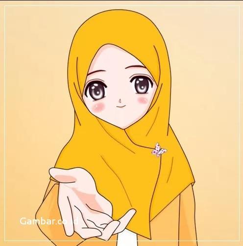 Gambar Kartun Muslimah Lucu Tersenyum
