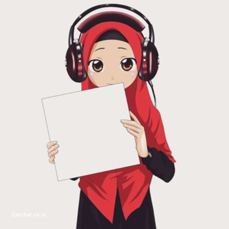 21 Gambar Kartun Muslimah Lucu, Unik, Imut & Terbaru