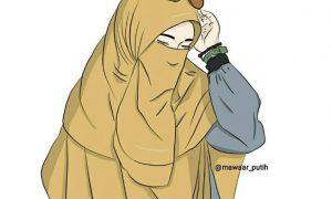 Kartun Muslimah Hukum Mengenakan Profil Bercadar Animasi Png