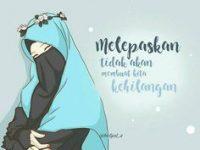 Kartun Muslimah Jatuh Cinta Melepaskan Tidak Akan Merasakan Kehilangan