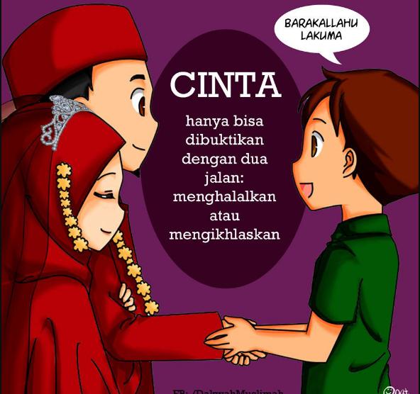 Kartun Muslimah Jatuh Cinta Mengikhlaskan atau Memilih Menghalalkan