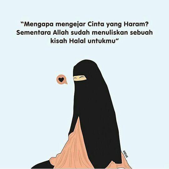 Gambar Kartun Muslimah Jatuh Cinta Halal