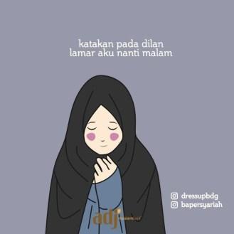 Kartun Muslimah Jatuh Cinta Lamar Aku