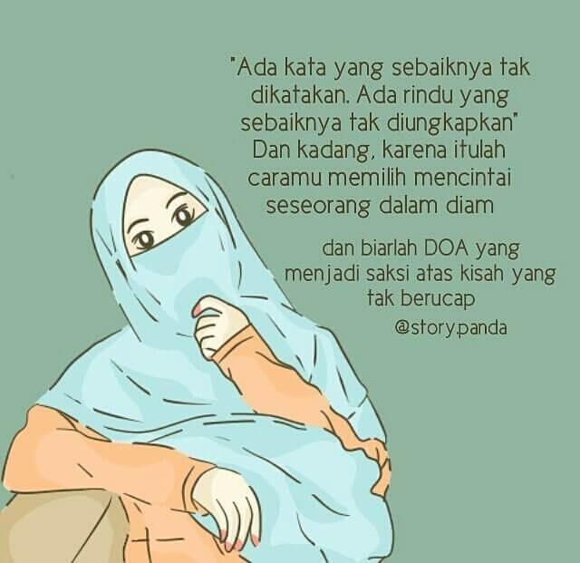 Kata-kata Muslimah tentang Mencintai dalam Diam