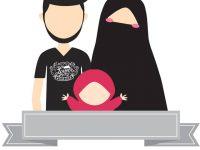 Gambar Kartun Muslimah Bercadar 1 Keluarga