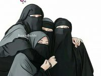 Gambar Kartun Muslimah Bercadar Bersama Teman