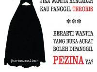 Gambar Kartun Muslimah Bercadar Bukan Teroris