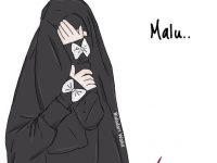Gambar Kartun Muslimah Bercadar Malu