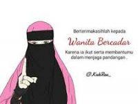 Gambar Kartun Muslimah Bercadar Menjaga Pandangan