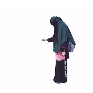Gambar Kartun Muslimah Bercadar Naik Puncak Travelling