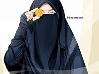 Gambar Kartun Muslimah Bercadar Pakaian Syar'i