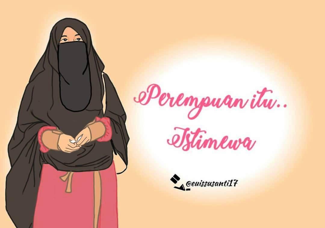Gambar Kartun Muslimah Bercadar Perempuan Istimewa