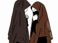 Gambar Kartun Muslimah Bercadar Sedih
