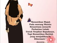 Gambar Kartun Muslimah Bercadar tentang Kecantikan Hati