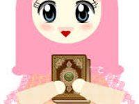 Gambar Kartun Muslimah Lucu Bawa Al Quran