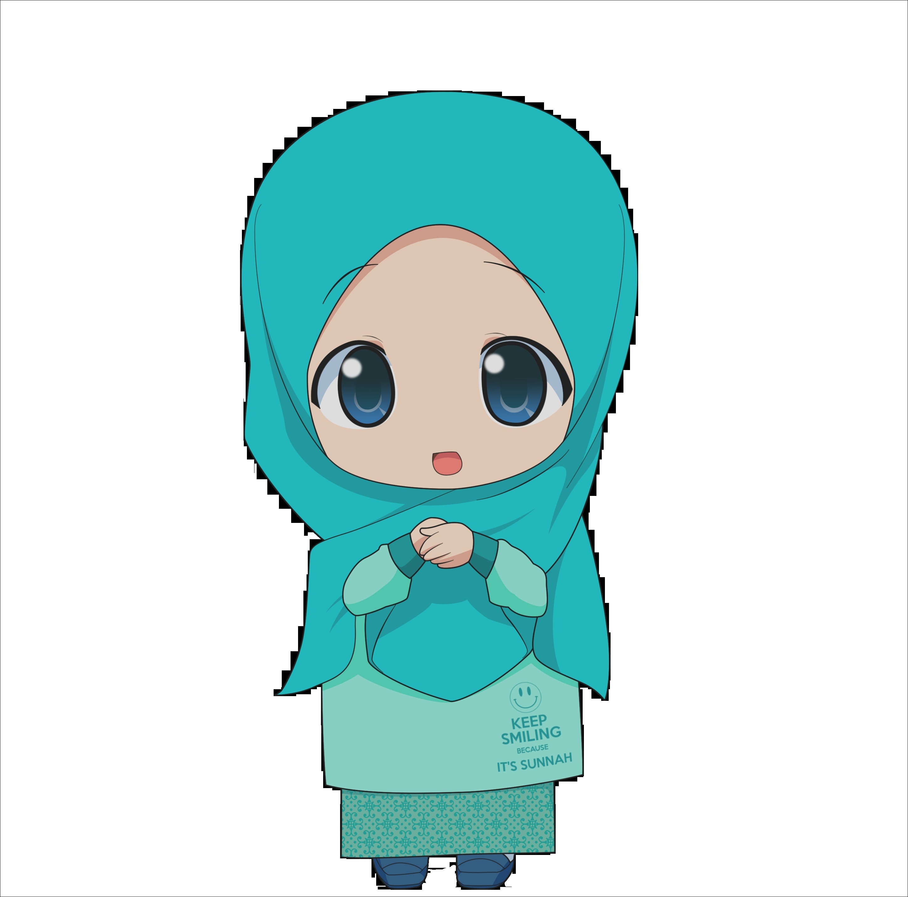 Gambar Kartun Muslimah Lucu Imut