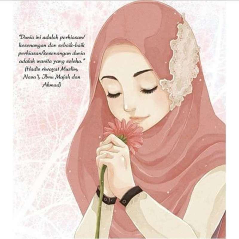 21 Gambar Kartun Muslimah Lucu, Unik, Imut& Terbaru