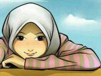 Gambar Kartun Muslimah Lucu Sendiri