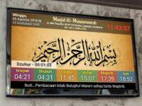 Jam Digital Masjid TV LED